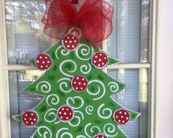 Christmas decorations, front door decor, Door hanger, wreath, door sign