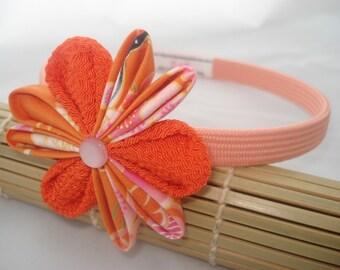 Japan Relief / Headband Chirimen Tangerine