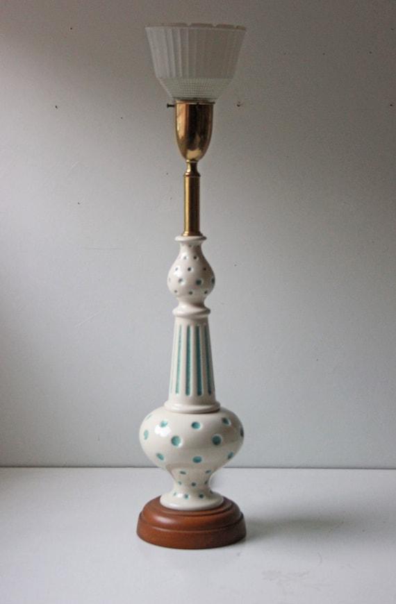 Vintage Blue Polka Dot 3 Way Table Lamp Kids Nursery Lamp | Etsy