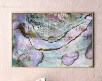 Mineral Photography - (Print #013)  Abalone -  Fine Art Print - Two Paper Choices- Mineral Geode Agate Crystal Decor