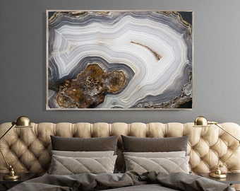 Mineral Photography - (Print # 086)   - Laguna Agate -  Fine Art Print - Two Paper Choices- Mineral Geode Agate Crystal Decor
