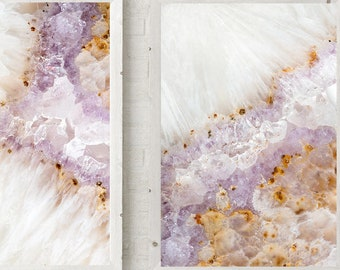 Set of - 3  Prints - (Print #'s 110, 111, 112)   Fine Art Print - Two Paper Choices- Mineral Geode Agate Crystal Decor