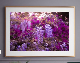 Fine Art Print - (Print # 334) Wisteria - Fine Art Print - Two Paper Choices- Natural Decor - Boho - Greenery Tropical BW
