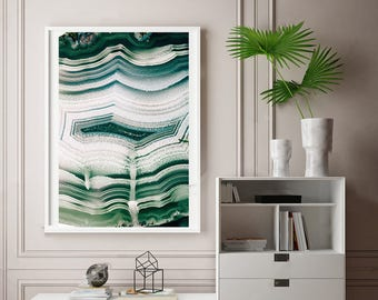Mineral Photography - (Print # 092) Crystal Agate    Fine Art Print - Two Paper Choices- Mineral Geode Agate Crystal Decor