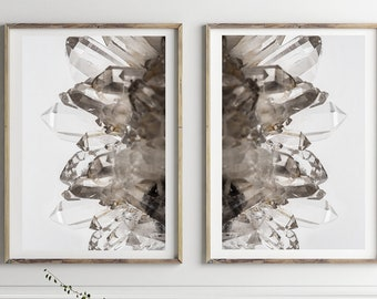 Set of 2 Agate Prints  - Prints (Print #523 & 524) - Fine Art Print - Two Paper Choices- Mineral Geode Agate Crystal Decor