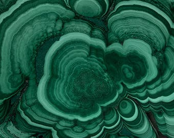 Mineral Photography - (Print # 055)  Malachite   - Fine Art Print - Two Paper Choices- Mineral Geode Agate Crystal Decor
