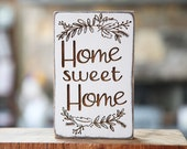 Tiered Tray Sign - Home Sweet Home Farmhouse Sign Distressed Wood Sign Rustic Wood Sign