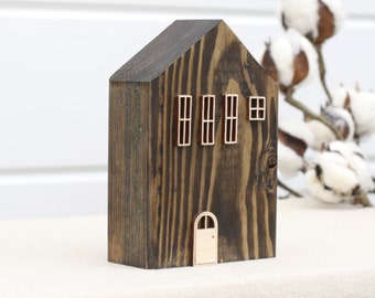 Wood House #2314 | Farmhouse Decor | Rustic Decor | Shelf Decor | Numbered Houses | Primitive House | Tiny House