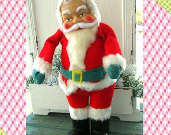vintage santa vintage 1950s felt santa santa claus christmas decoration santa is coming to town