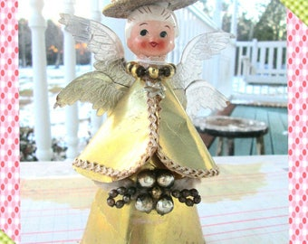 vintage tree topper angel 1950s rare tree topper angel holt howard christmas ornament 1950s christmas decoration tree topper rare - Etsy Christmas Decorations