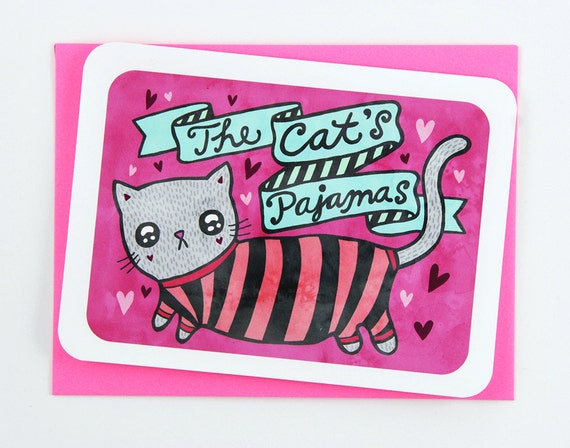 The Cats Pajamas Valentine Card Friend Birthday