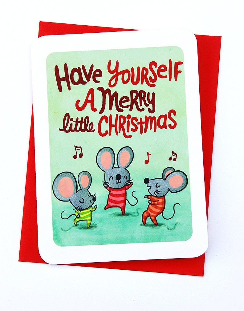 Have Yourself a Merry Little Christmas Mice Cute Christmas   Etsy