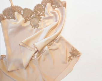 Silk lingerie set  Genevieve 100% silk camisole and tap pants ade90cf1b