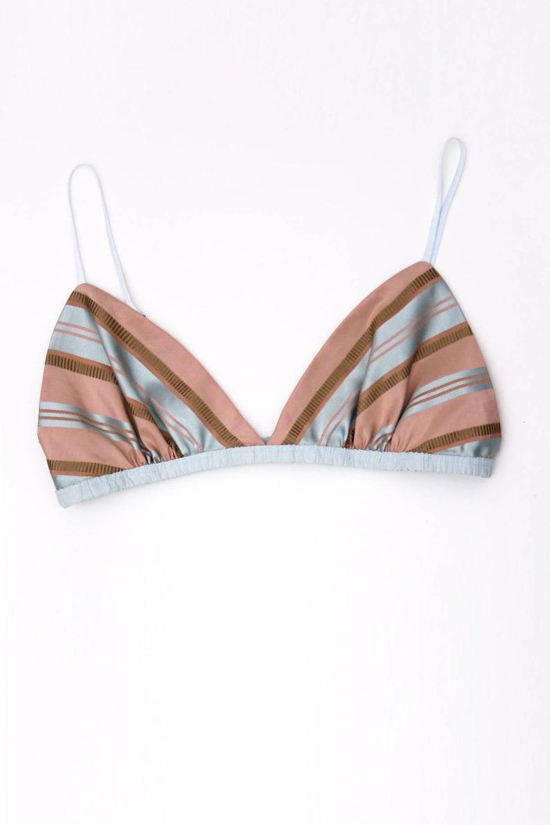 8ffd844679 Marianne silk bralette silk bra blue blush pink bra rococo