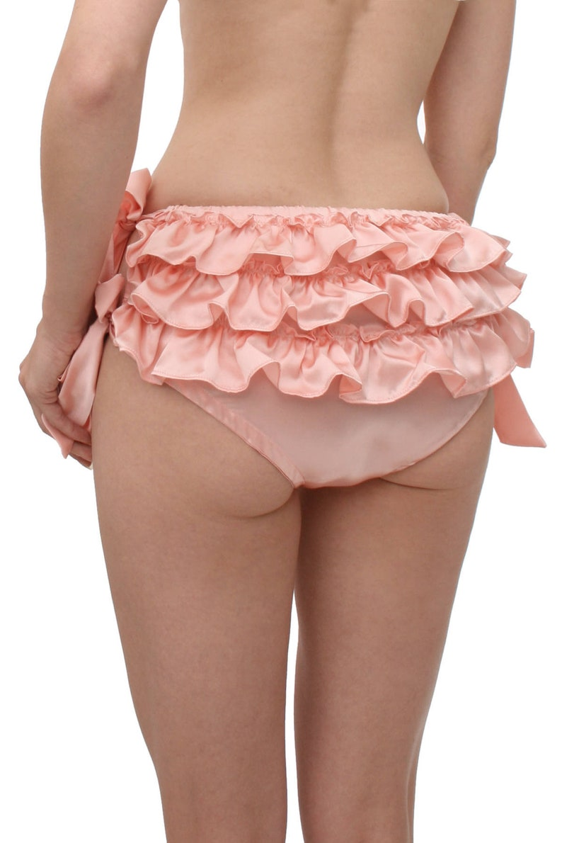cdfb908bc92e8 Silk ruffled panties As seen in W Magazine Sasha pink 100% | Etsy