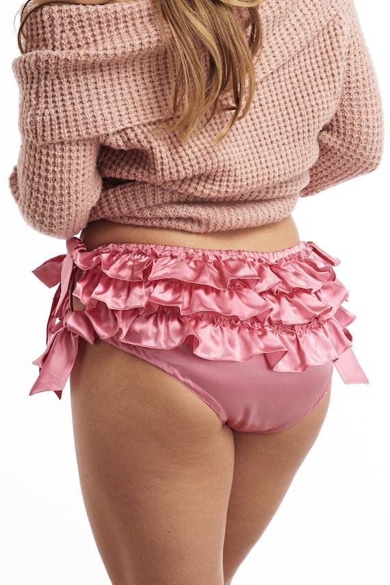 Playful Promises Silk Corsage Panty Navy
