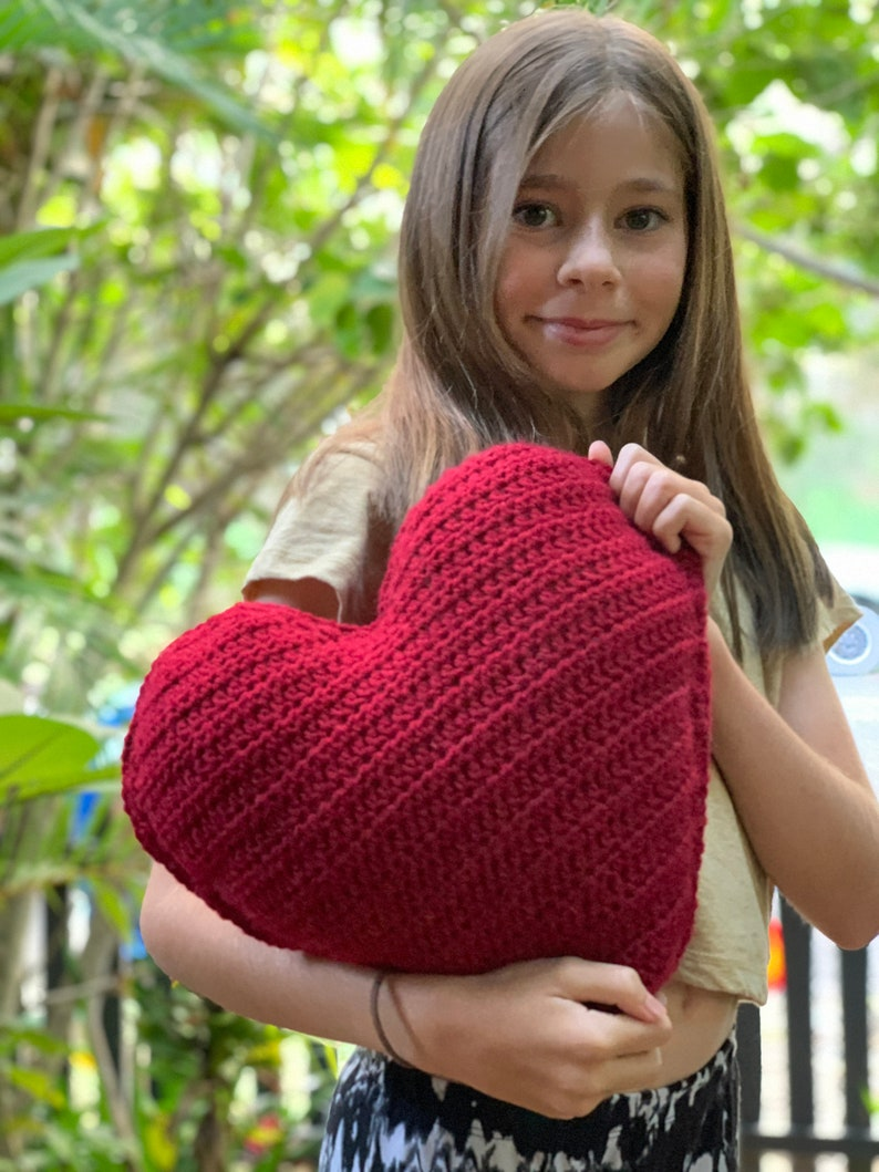 SURPRISE Crochet /'From My Heart To Yours/' Pillow Cushion sensory pillow heart pillow heart squishy heart cushion comfort travel pillow