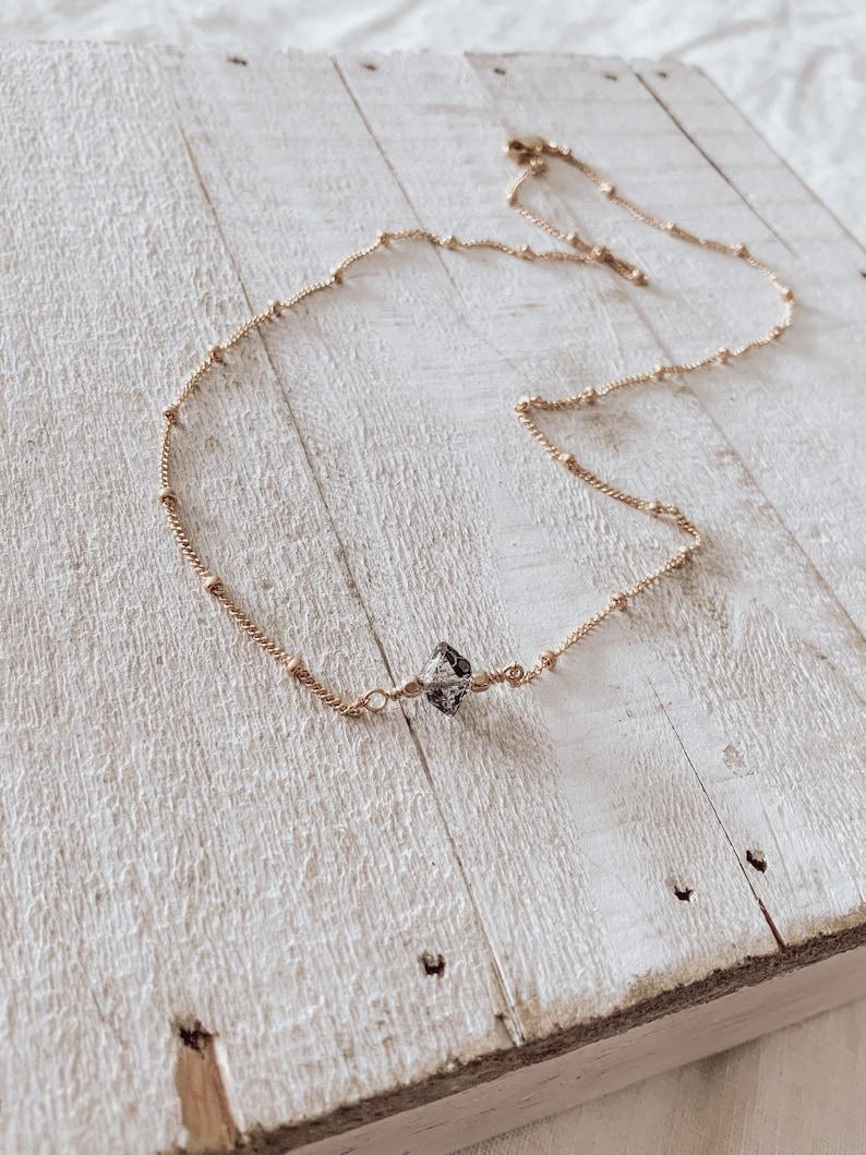 Best Seller Herkimer Diamond Choker Necklace CraeVita