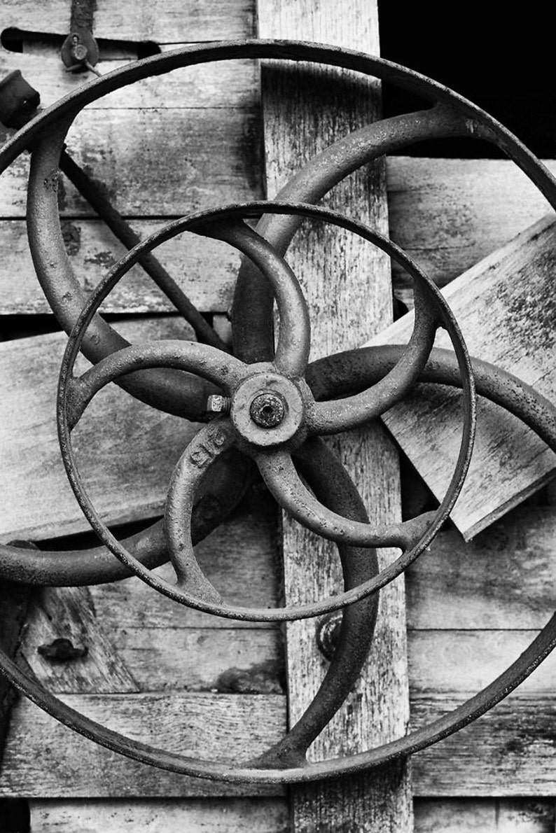 Black and White Fine Art Photograph Historical Mechanical 01