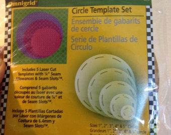 omnigrid circle template set christmas ornament