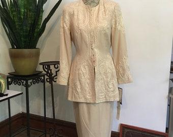 80s Marie st claire Dress Suit // 80s does 50s Suit // Marie st claire size 8