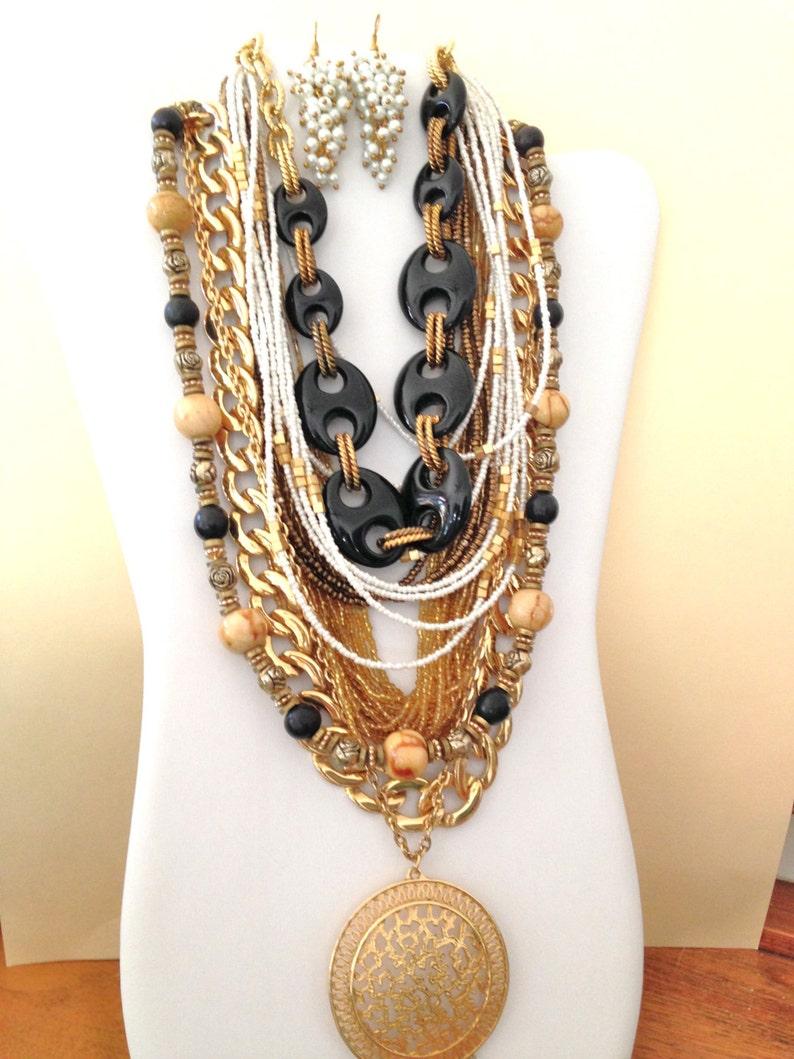 a3c1a0da1264 LOTE de 7 collares de Boho collar y 4 cuentas pendientes