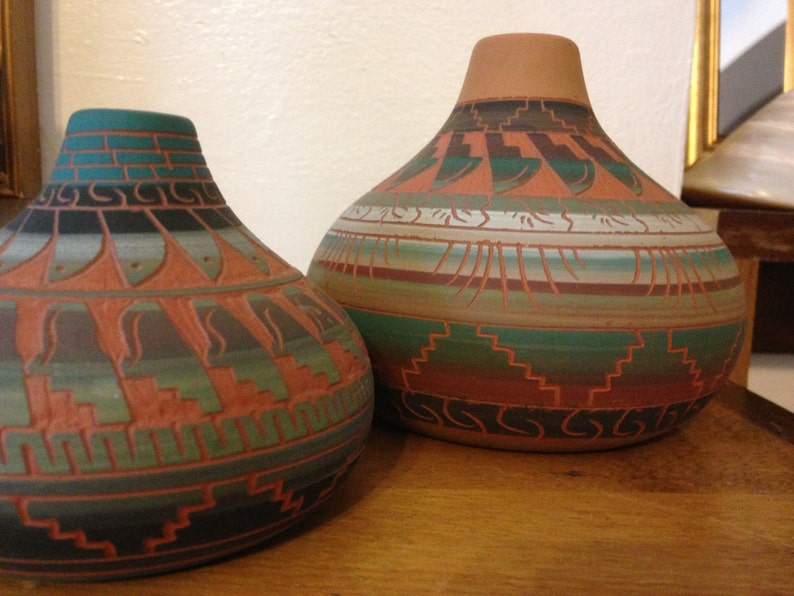 aca5face22 2   Navajo Pottery    Joanna Johnson    Vintage    80s