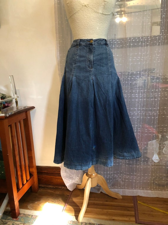 Denim Skirt//Size 3X//Jean Skirt//Long Denim  Skir