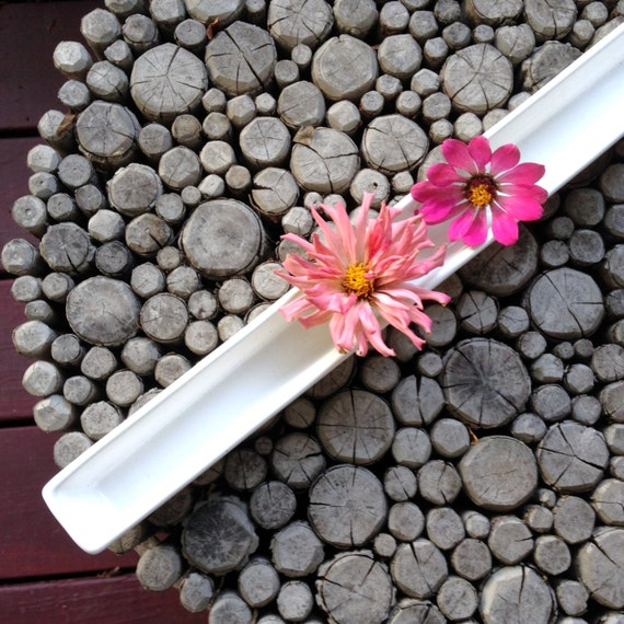 Blossom Vase Center Piece Flower Container Long Etsy