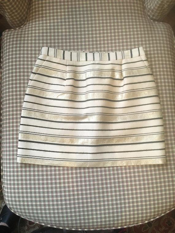 80s//Gold Skirt//Size 4//Gold Lame// J Crew//Short