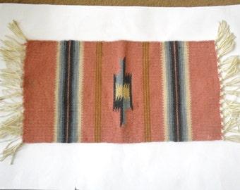 Navajo Weaving  Native American Indian 19.5 x 10