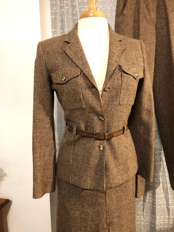 3Pc SUIT//Women's Suit//Wool Suit//Size 6-8//Brown