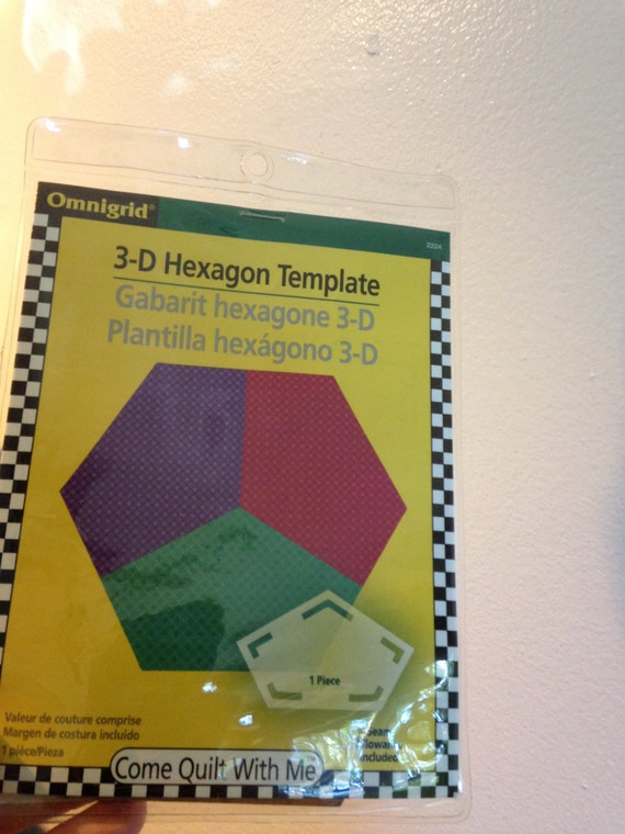omnigrid 3d hexagon template etsy