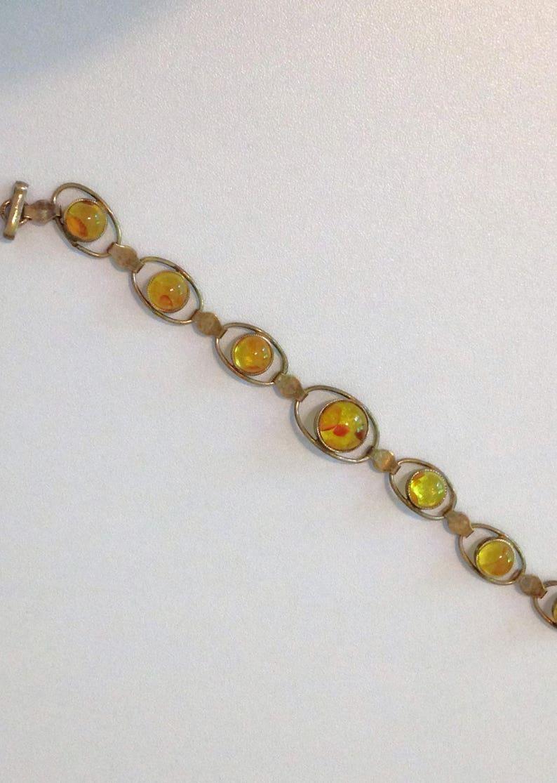 Baltic Amber Bracelet Sterling Silver