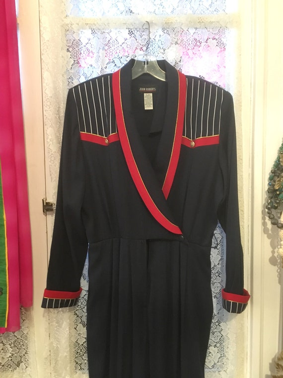 Jumpsuit//Size 14//Military //Patriotic //Red Whit