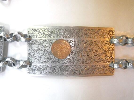 50s Concho Belt //Aluminum //Chain Belt //Vintage