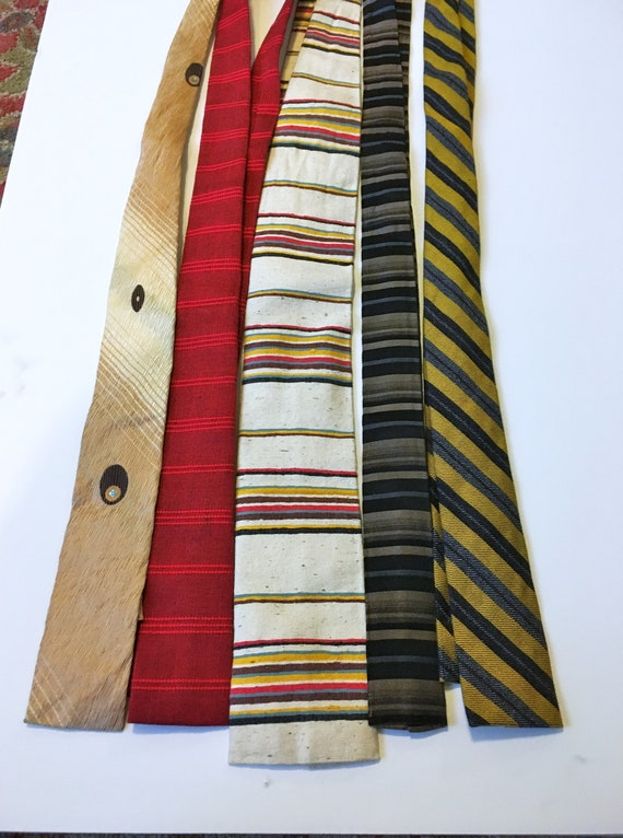 5//Rooster Necktie//50s Necktie // Lot // Skinny t