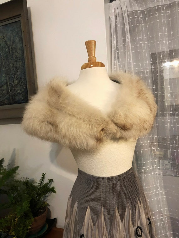 Fox fur//Collar//Shrug//Wrap//Collar for coat//Vin