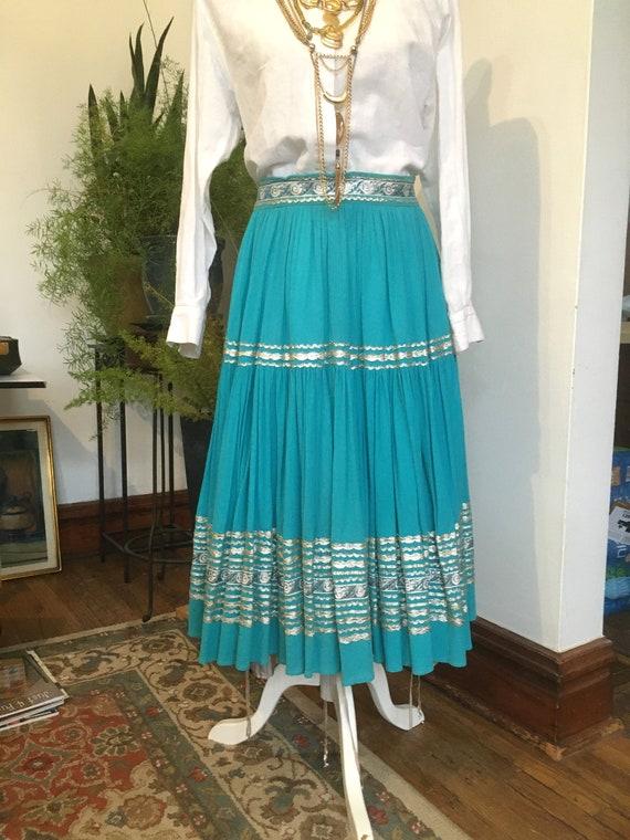 50s Skirt //Size S //Southwestern Skirt//Patio ski
