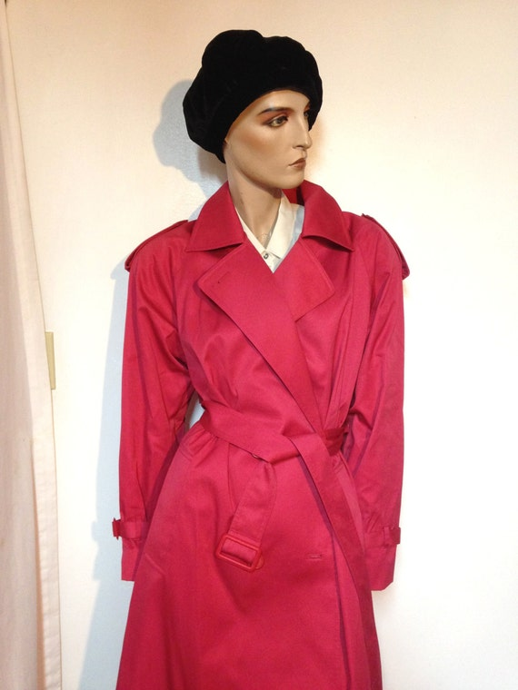 PINK// Trench Coat // Pink Coat//Size 10// 12 // 8
