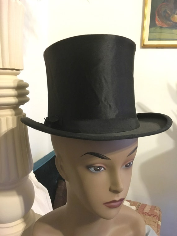 50s// Collapsible Top Hat // Dobbs Fifth Avenue //