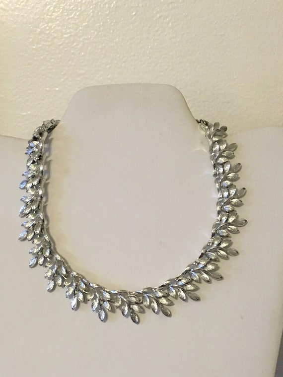 50s// Silver Necklace // Lisner //Necklace //  Cho