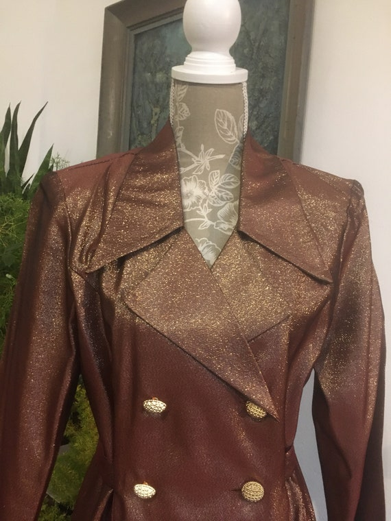80s//Gold Suit//Size 10//Metallic // clothing//Lur