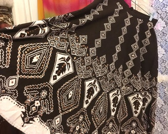 Mexican Circle Skirt // 80s Reproduction Mexican Style skirt // Size 28 Wast
