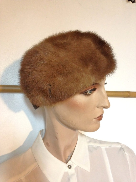 50s    Pillbox Hat    Mink Hat    by Cecile NY    XS  6d376e1451f