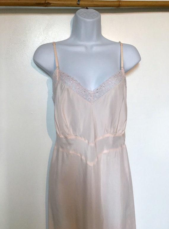 Pink Slip//Size 8//Vintage Slip//Full Slip//Dress