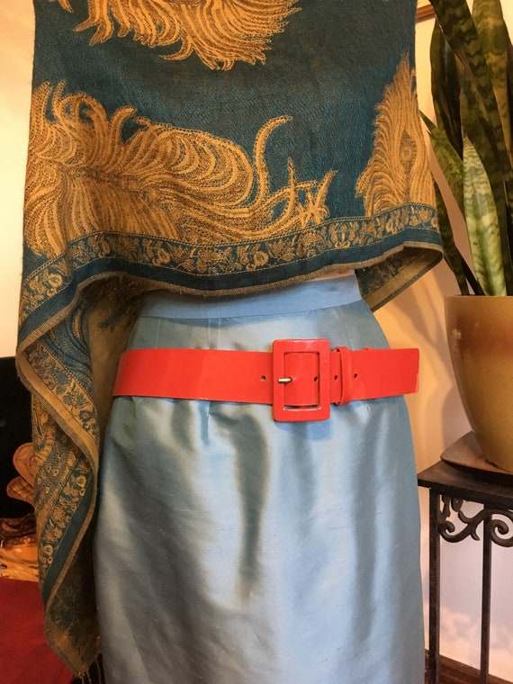 Patent leather belt//Red Belt // Leather Belt //Si