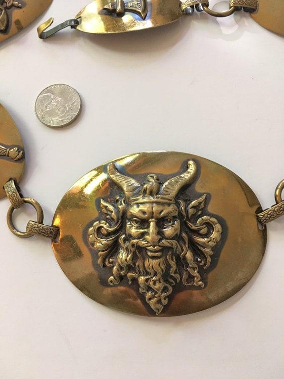 Viking Belt// Brass//Chain Belt// Concho Belt //50