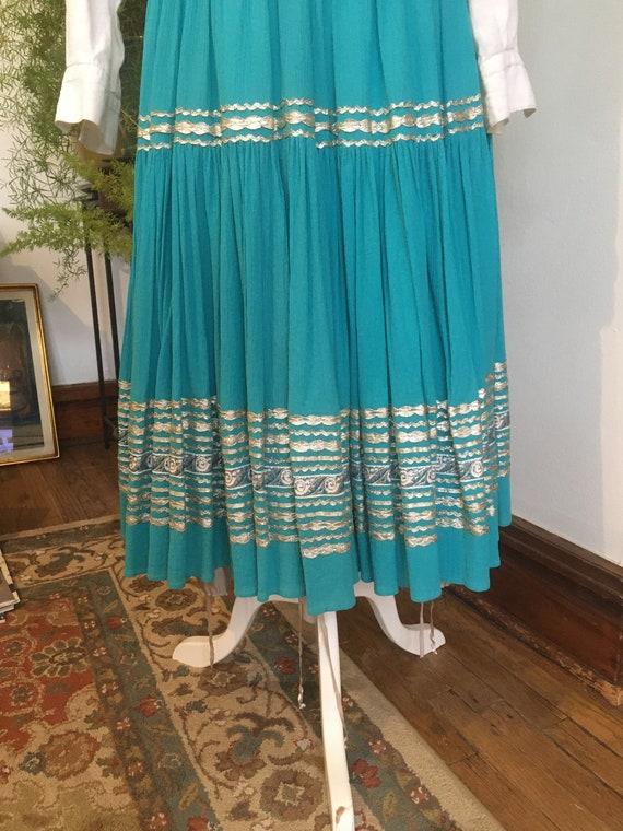 50s Skirt //Size S //Southwestern Skirt//Patio sk… - image 3