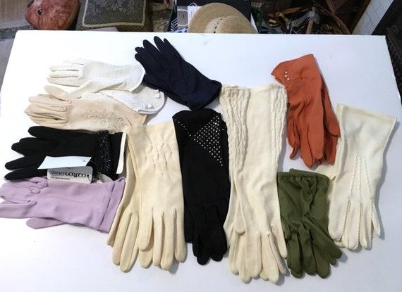 10// VIntage Glove Lot //Glove Lot //  White Glove